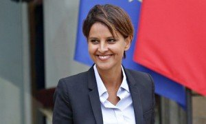 Newly named French education minister, Najat Vallaud-Belkacem